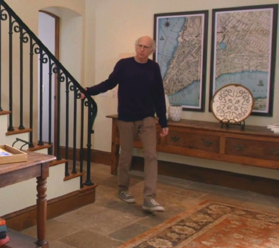 A Unique Map Of Lower Manhattan Hangs On Larry David's Wall In 'Curb Your Enthusiasm'